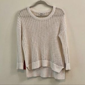 Madewell White Scoop Neck Sweater Size Extra Small